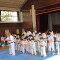 東大和道場の皆さんが、小平市上宿小学校にて演武を行いました。(2016・12・3 小平市上宿小学校)