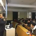 田無道場分支部長 佐野忠輝三段が法政大学にて講義を行いました。(2018/12/11(火)/12(水)法政大学)