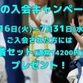 夏の入会キャンペーン開催!