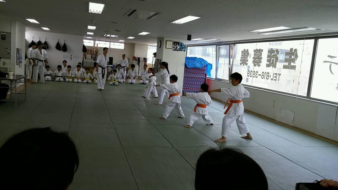 2015夏季昇級審査会少年部移動 003