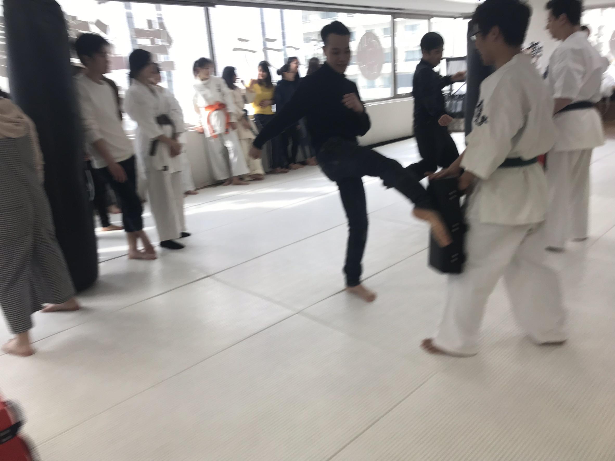 蹴りミット