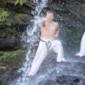 三峰山 真冬の滝浴び稽古